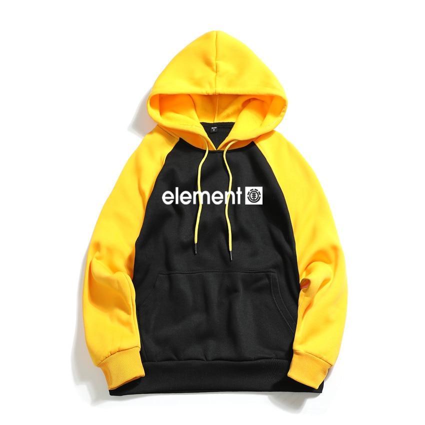 Autumn Winter Men Sweatshirts Raglan Hoodies Streetwear Element Fashion Letter Printed Hoody Long Sleeve Hoodies Brand Hoodie