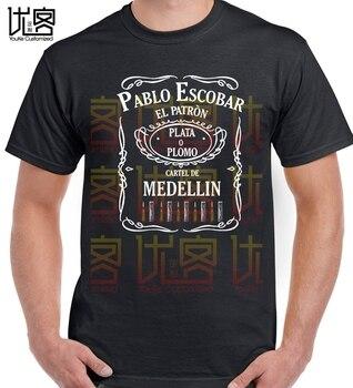 Pablo Escobar El patrón Camiseta de manga corta 100% de algodón camisetas...