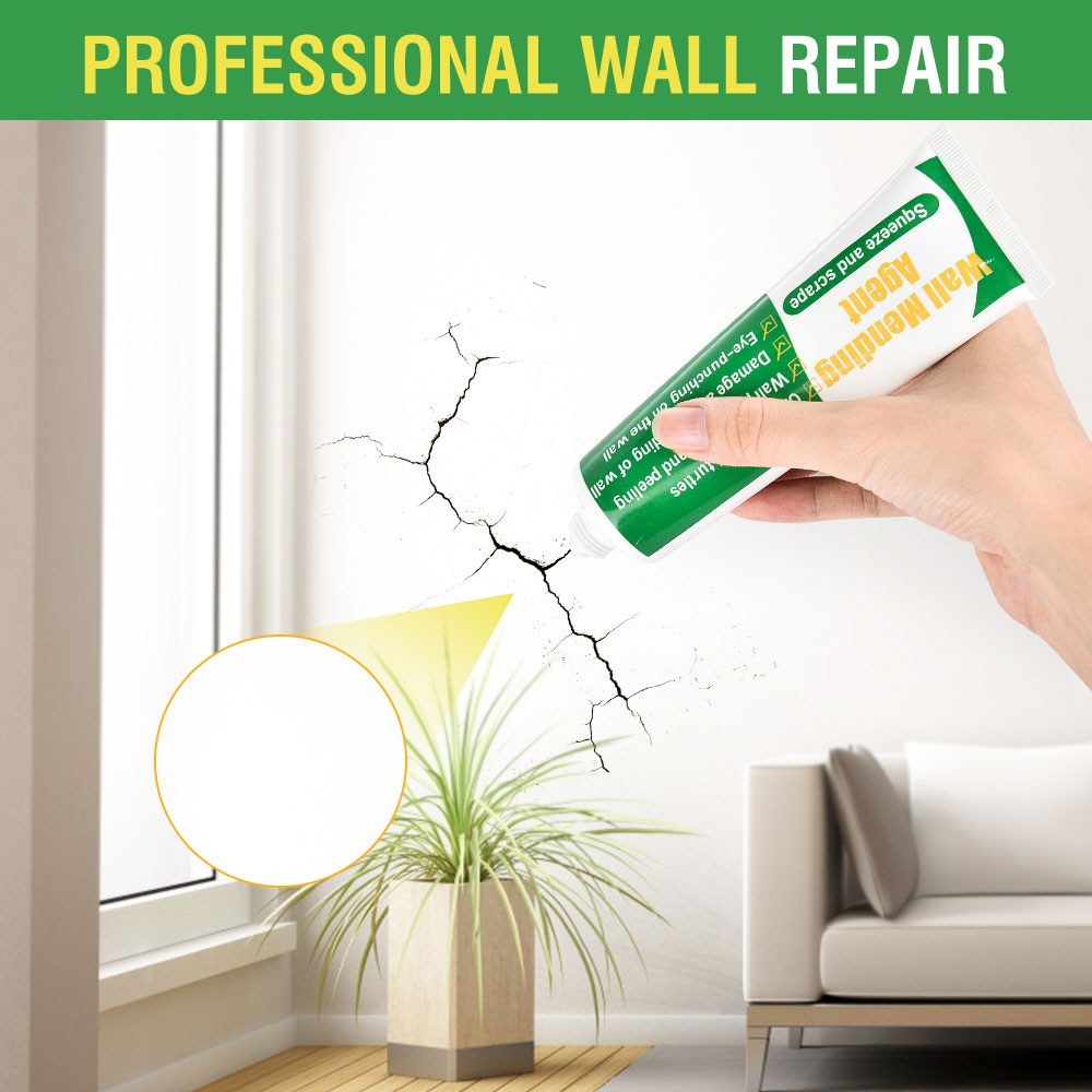 250g Wall Mending Agent Wall Repair Cream Latex Paint Waterproof Gypsum Wall Paint Valid Mouldproof Quick-Drying Patch Restore 5