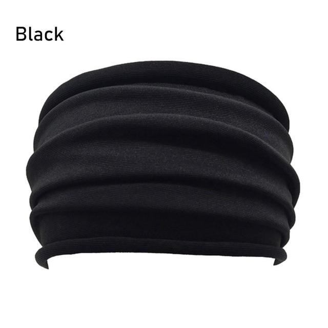 13 Colors Nonslip Elastic Folds Yoga Hairband Fashion Wide Sports Headband Running Accessories Summer Stretch Hair Band 3