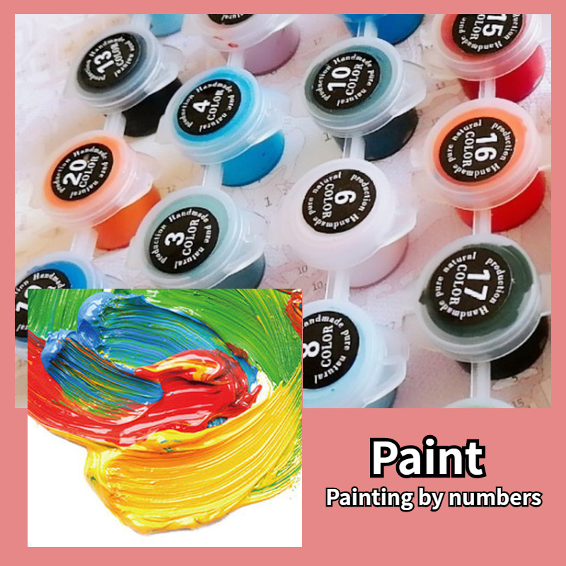 New Arrivals Intoxicated In the Cello DIY Coloring Paint By Number Picture Painting By Numbers Surprise Gift Art-5