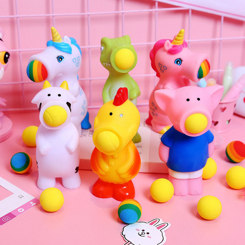 Cartoon Animal Unicorn Cow Ejection Ball Toy Creative Trick Decompression Toy Kneading Music Spray Ball Toy Gifts Fidget Toys enlarge