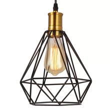 Алмазная пирамида подвесной светильник винтажная клетка лампочка