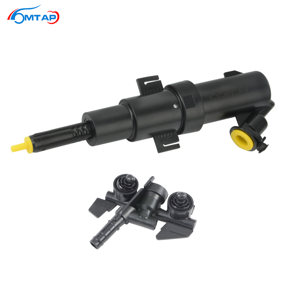 MTAP Front HeadLamp Water Actuator&Jet For E46 1997 1998 1999 2000 2001-2006 BMW 320 325 328 330 M3 Washer Nozzle+Sprayer