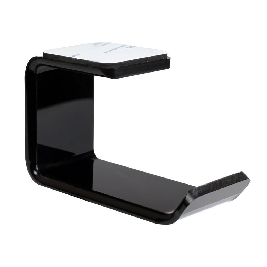 Wall Mounted Headset Holder Earphone Hook Sticky Display Stand Sticker Acrylic Headphone Bracket Hanger Under Desk