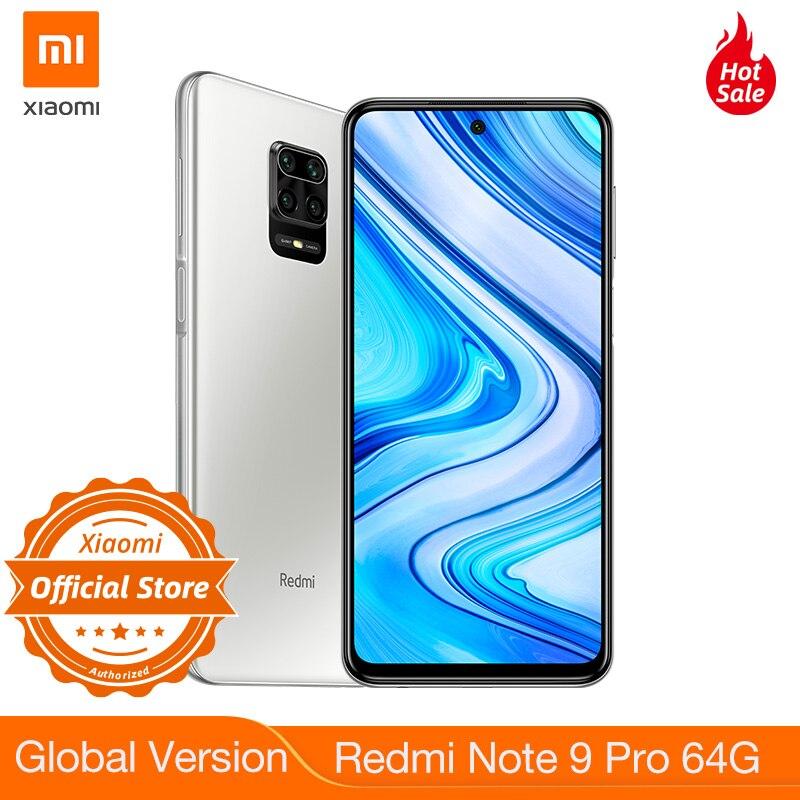New Global Version Redmi Note 9 Pro 64GB Smartphone NFC Smartphone 6GB 64MP Quad Camera Snapdragon 720G GPay 5020mAh Battery