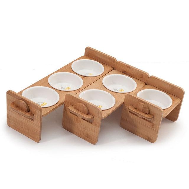 1/2/3 Ceramic Dish Bowl Wooden Table