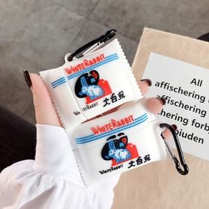 Image 4 - غطاء من السيليكون ل Airpods 1 2 3 لطيف بلوتوث حقيبة سماعة الاذن ل Airpod برو غطاء ل الهواء القرون الموالية المفاتيح الفراولة الشوكولاته