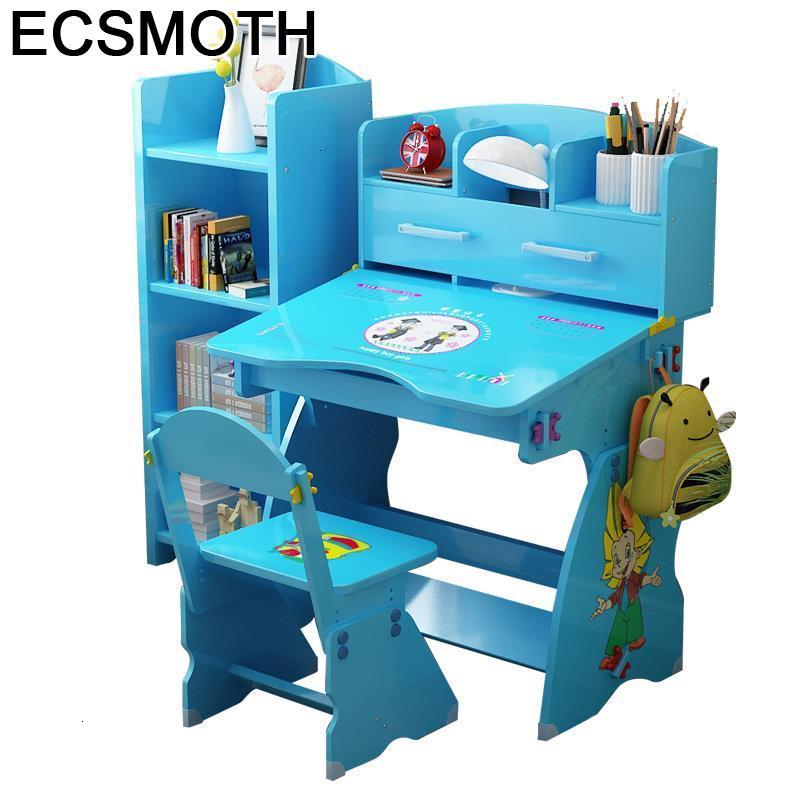 Cocuk Masasi Stolik Dla Dzieci Y Silla Avec Chaise Child Baby Toddler Desk Adjustable Mesa Infantil Enfant Study Table For Kids