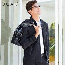 UCAK Brand Jacket Men Business Casual Coat Men Clothes 2019 New Arrival Autumn Winter Mnes Jackets And Coats Zipper Pocket U8009