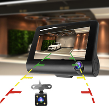 Dual Lens Car DVR Video Recorder With Rearview Camera Dashboard Auto Registrator Dvrs G sensors with windshield holder HD 1080P