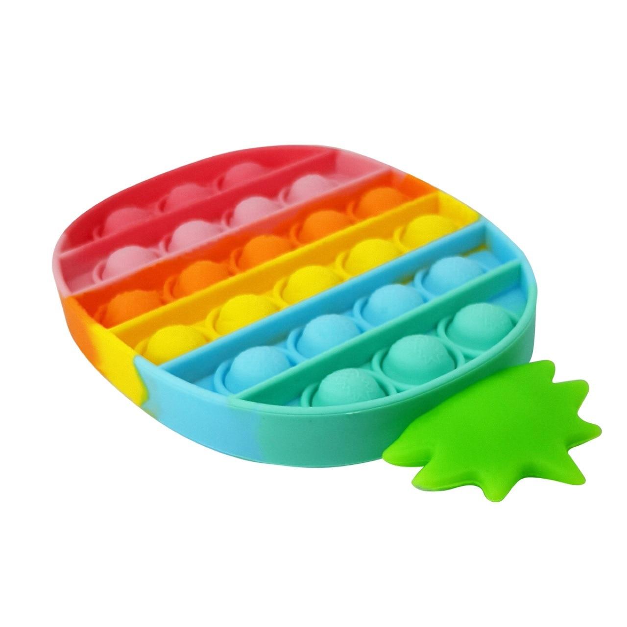 Push Pop Bubble Sensory Toy Autism Needs Squishy Stress Reliever Toys Anti-stress Pop It Fidget Strawberry Pineapple Rainbow Toy img5