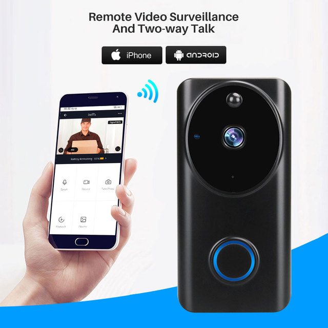 Tuya 1080P WiFi Video Doorbell Smart Video Intercom APP Control Phone Call Door Bell Home Security Monitor Night Vision Camera