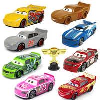 Disney Pixar-coches de juguete de Metal de Cars para niños, coches de juguete de Cars 3 n. ° 95, Rayo McQueen, Mater, Jackson Storm Ramirez, regalo de Navidad para chico