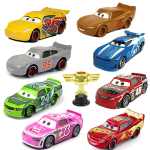 Disney Pixar Cars 2 Cars 3 No.95 Lightning McQueen Mater Jackson Storm Ramirez Vehicle Metal Alloy Boy Kid Toys Christmas Gift
