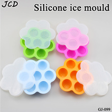 Silicone Mini Ice Pops Mold Ice Cream Ball Lolly Maker Popsicle Molds Baby DIY Food supplement tool Fruit Shake Ice Cream Mold