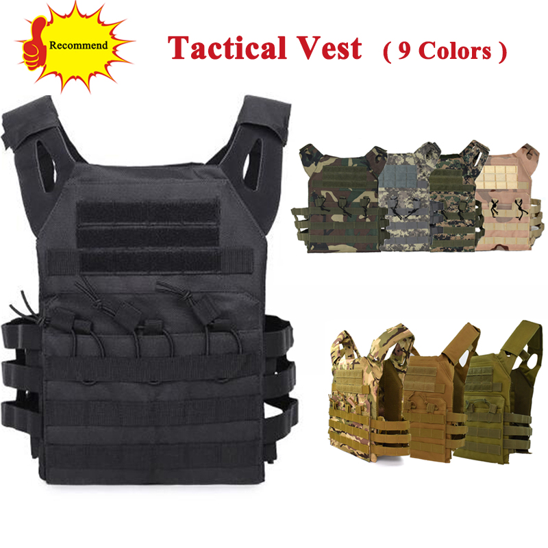 Tactical JPC Vest Airsoft Paintball Molle Vest Military Army Protective Plate Carrier Multicam Combat Vest Body Armor