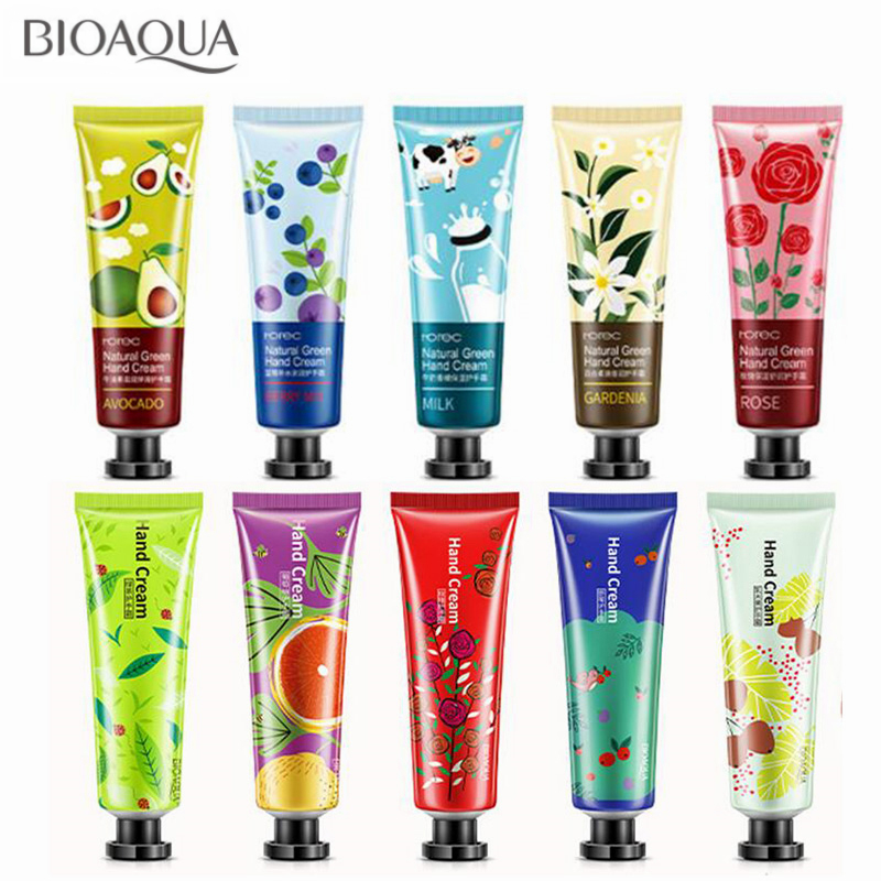 10PCS/lot Whitening Moisturizing Hand Cream Mini Cute Hand Lotion Plant Anti-Aging Hand Feet Care Cream For Men Womem