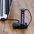 Folomov портативное умное зарядное устройство для автомобильного ключа 2A Магнитная Зарядка через USB для аккумулятора 18650/21700/20700 в качестве заря...