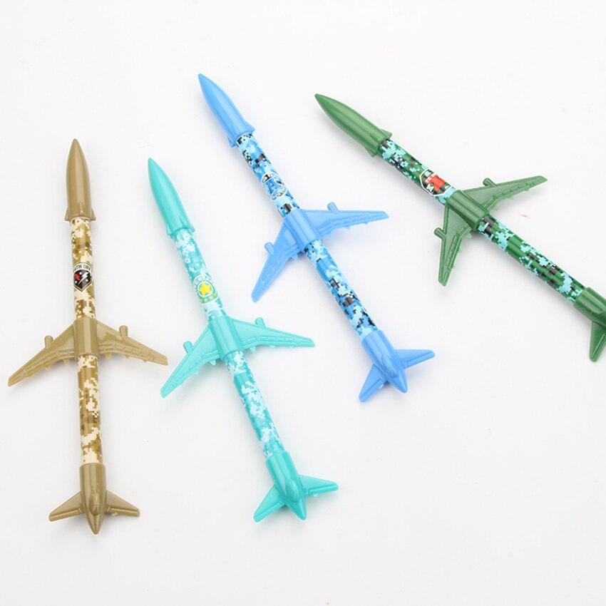 1pc 0.4mm Creative Rocket Plane Gel Pen Writing Pens Kawaii Stationery Caneta Material Escolar Office School Supplies
