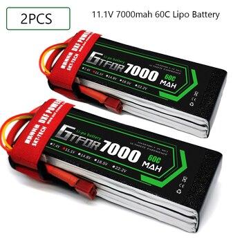 GTFDR 2PCS 3S Lipo Battery 11.1V 5200mAh 6000mAh 6500mAh 7000mAh 50C/100C 60C/120C 80C/160C for RC Car Drone Boat Helicopter gtfdr 2pcs 2s lipo battery 7 4v 7 6v hv 8400mah 7000mah 6200ma 5200mah 140c 280c 100c 200c 60c 120c 4mm for 1 8 1 10 road rc car