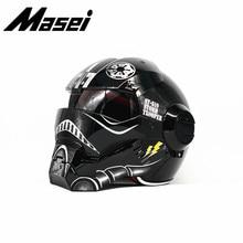 Free shipping Top ABS Moto biker Helmet MASEI Iron Man personality special fashi