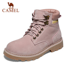 CAMEL Men Women Solid Color High-top Waterproof Hiking Shoes