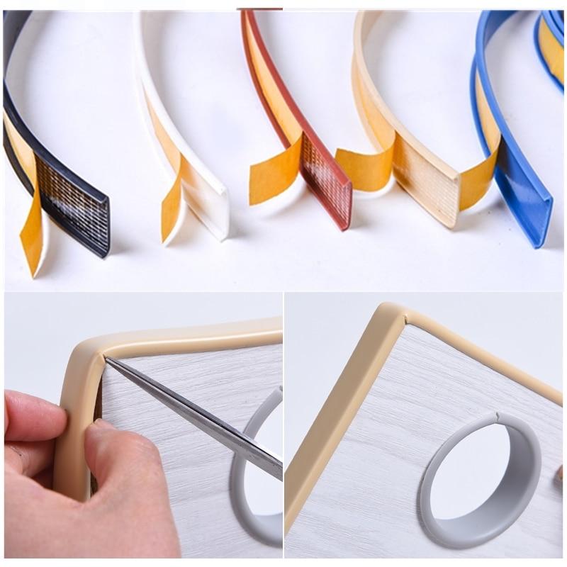 Soft Self Adhesive U Edge Banding Edging Edgeband For Furniture Wardrobe Cupboard 16MM 18MM 22MM Dash-proof Adhesive Stripe