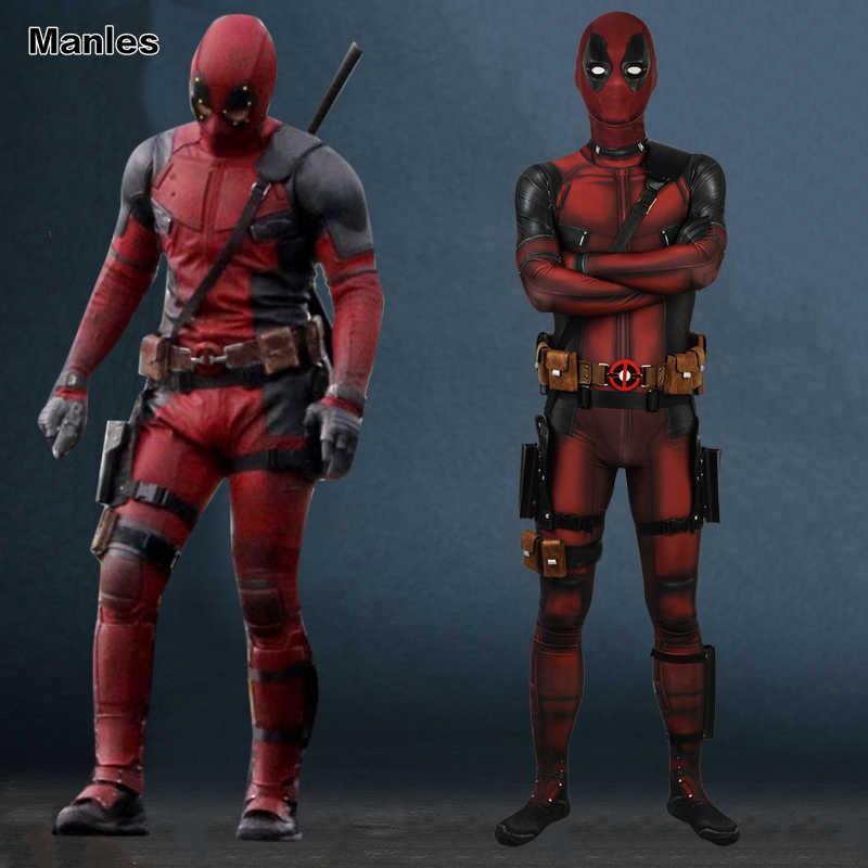 คอสเพลย์ Deadpool 2 ชุดชุดเสื้อผ้า Wade Wilson ชายปู่ Daddle Jumpsuit แฟนตาซีผู้ใหญ่ฮาโลวีน Superhero ภาพยนตร์