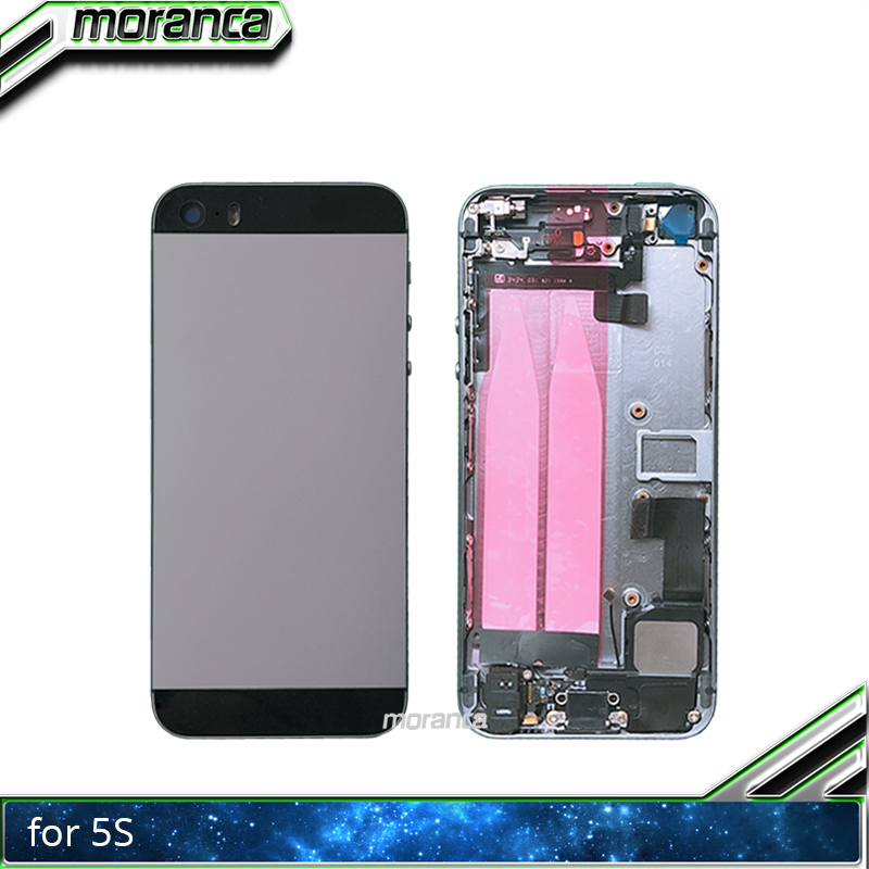 High Quality Back Middle Frame Chassis For IPhone 5s SE Full Housing Assembly Battery Cover Door Rear With Flex Cable