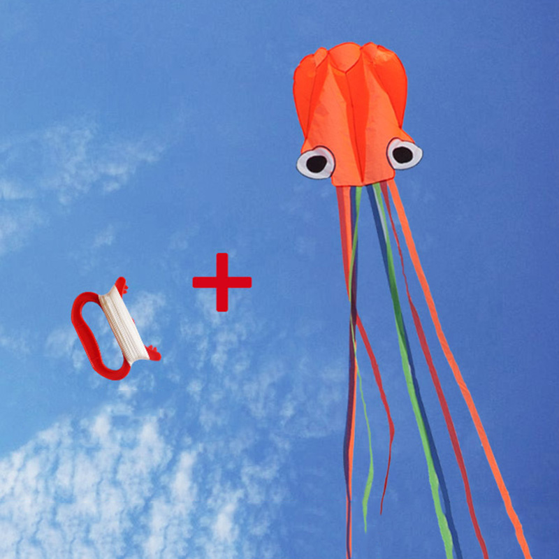 4M Large Kite Outdoor Sports Children Toys Easy Fly Stunt Foldable Big Octopus Kite with 30M Flying String AN88