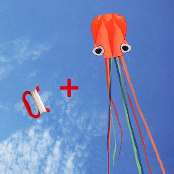 4M duży latawiec Outdoor Sports zabawki dla dzieci łatwy Fly Stunt składany duży latawiec ośmiornicy z 30M latającym sznurkiem AN88 tanie i dobre opinie Strong-Toyers NYLON 8 lat 178063 Kite bar Unisex OCTOPUS Pojedyncze None