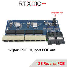 Odwrotny POE 2G8 RJ45 Gigabit włącznik Ethernet 1.25G złącze światłowodowe SC 8 portów 1000 mb/s płytka PCBA Fibra konwerter optyczny