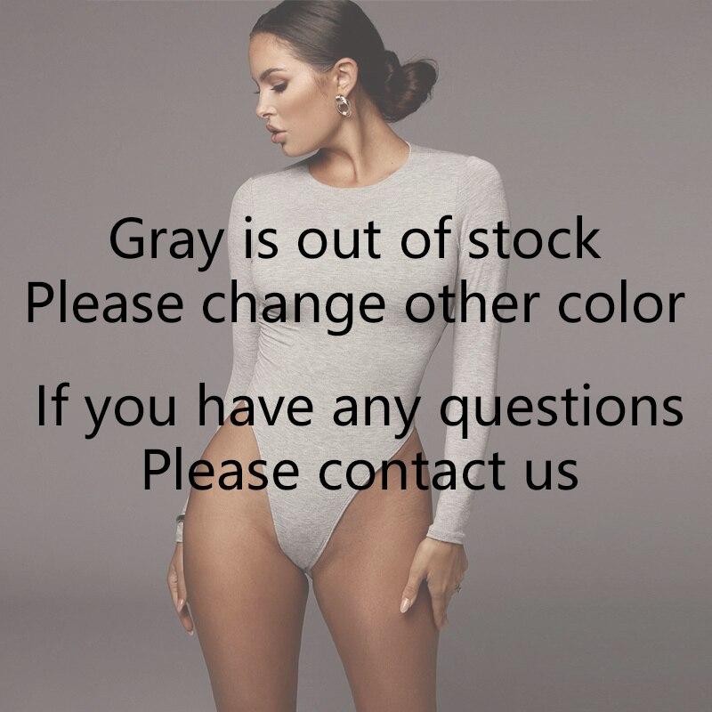 Ultimate DealƒFSDA Sexy Bodysuit Long-Sleeve Streetwear Gray Black White Autumn Winter Women Casual×
