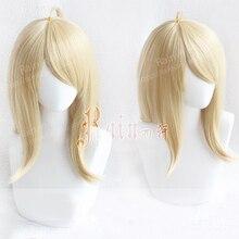 Kacamurça peruca para cosplay akamatsu, nova peruca danganronpa v3, para fantasia de cabelo sintético, resistente ao calor, peruca + touca