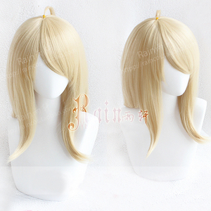 Image 1 - Kaede Akamatsu Cosplay Wig New Danganronpa V3 Costume Play Wigs Heat Resistant Synthetic Hair Costumes Hair Wigs + Wig Cap