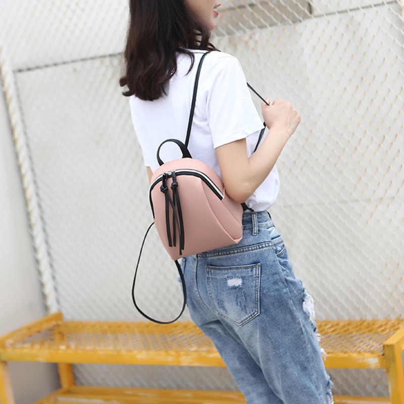 2020 Baru Wanita Ransel Wanita Kulit Tas Bahu Multifungsi Mini Ransel Wanita Sekolah Bagpack Tas untuk Remaja Grils