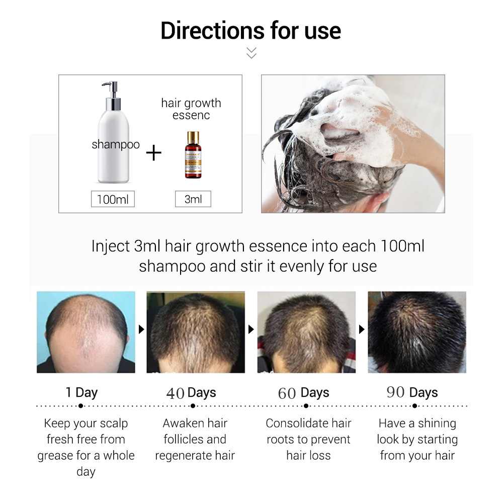 Купить с кэшбэком Hair Care Hair Growth Essential Oils Essence Original Authentic 100% Hair Loss Liquid Health Care Beauty Dense Hair Growth Serum