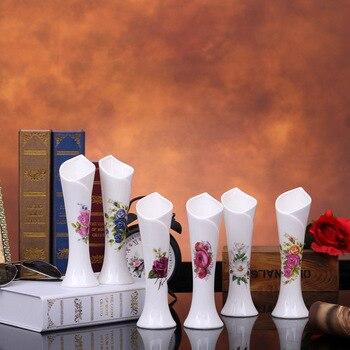 Simple modern ceramic small fresh white porcelain decorative vase ornamental European