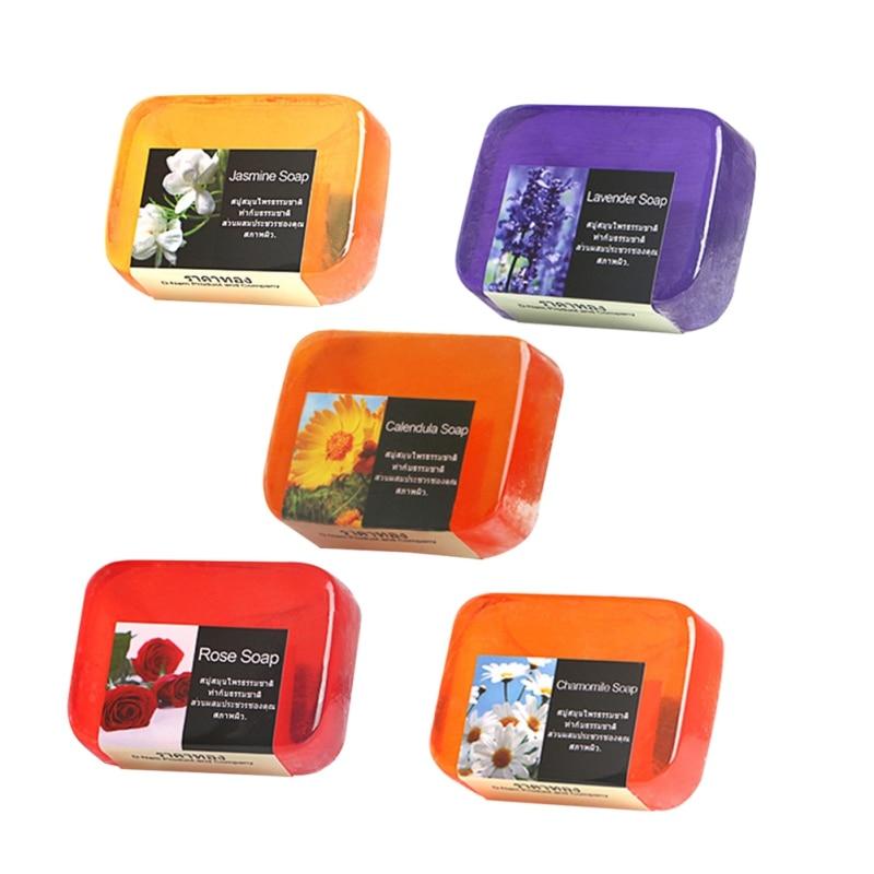 Pure Natural Flowers Essential Soap Whitening Control Oil Foam Clean Skin Care Handmade Soap