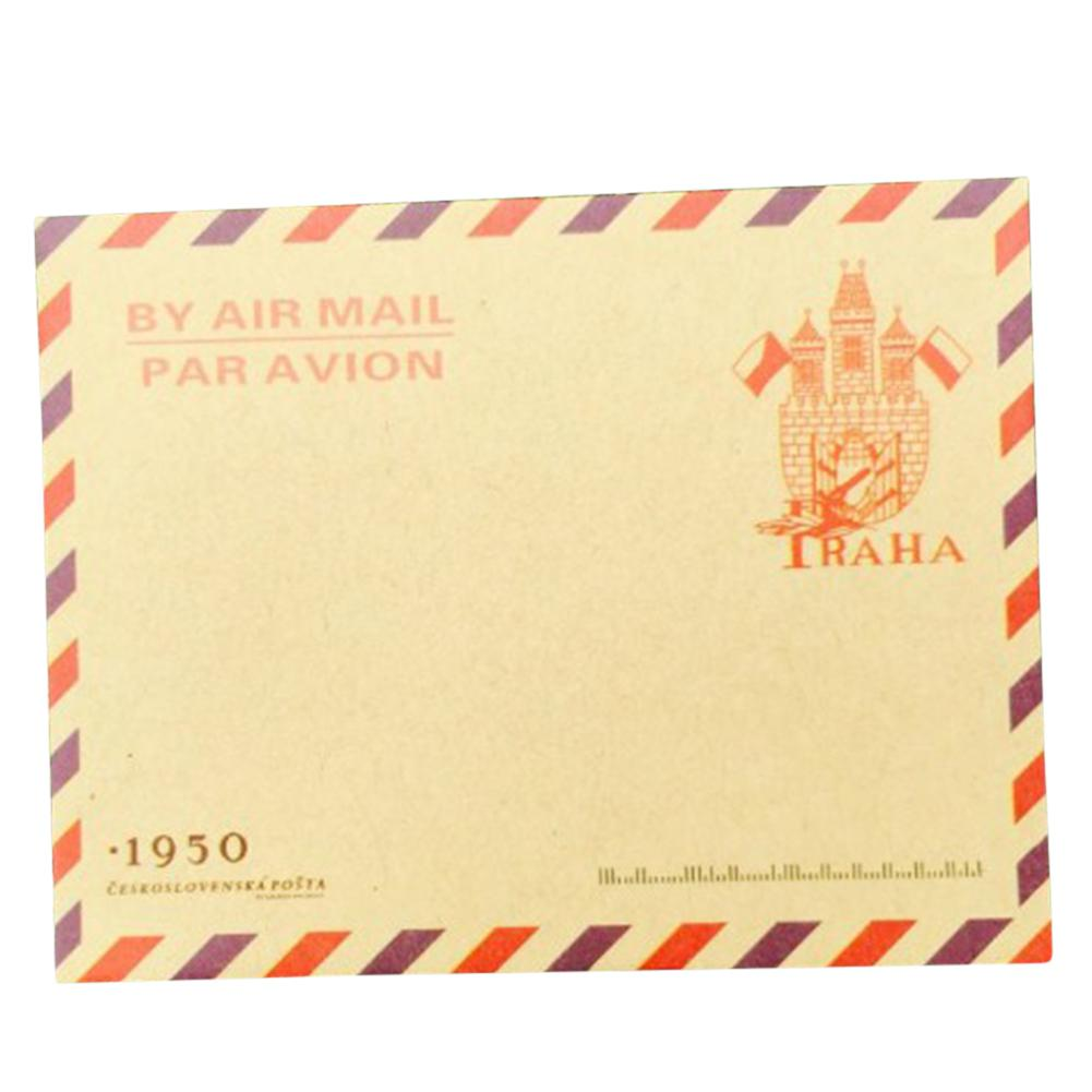 Adeeing 10pcs Mini Retro Kraft Paper Envelope Random Style Delivery D18