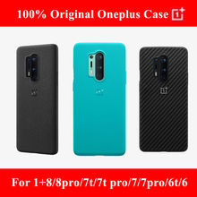 100% official protective case for oneplus 8 6 6t 7 7t pro 5t sandstone nylon aramid carbon fiber silicone 5t original back cover