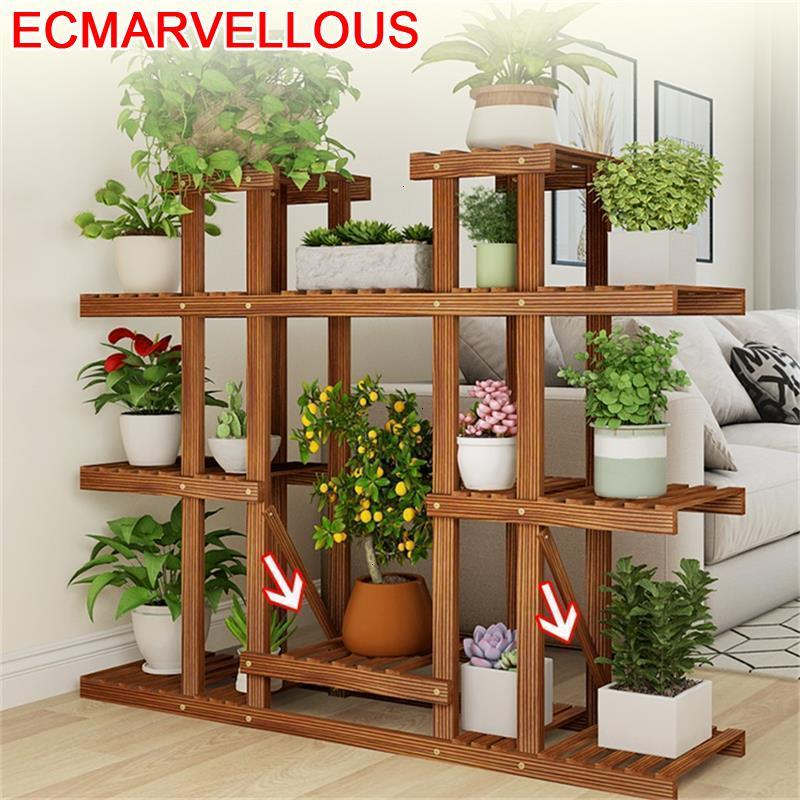 Indoor Living Room Pot For Rak Bunga Plantas Estante Para Flores Shelf Dekoration Stojak Na Kwiaty Outdoor Flower Plant Stand