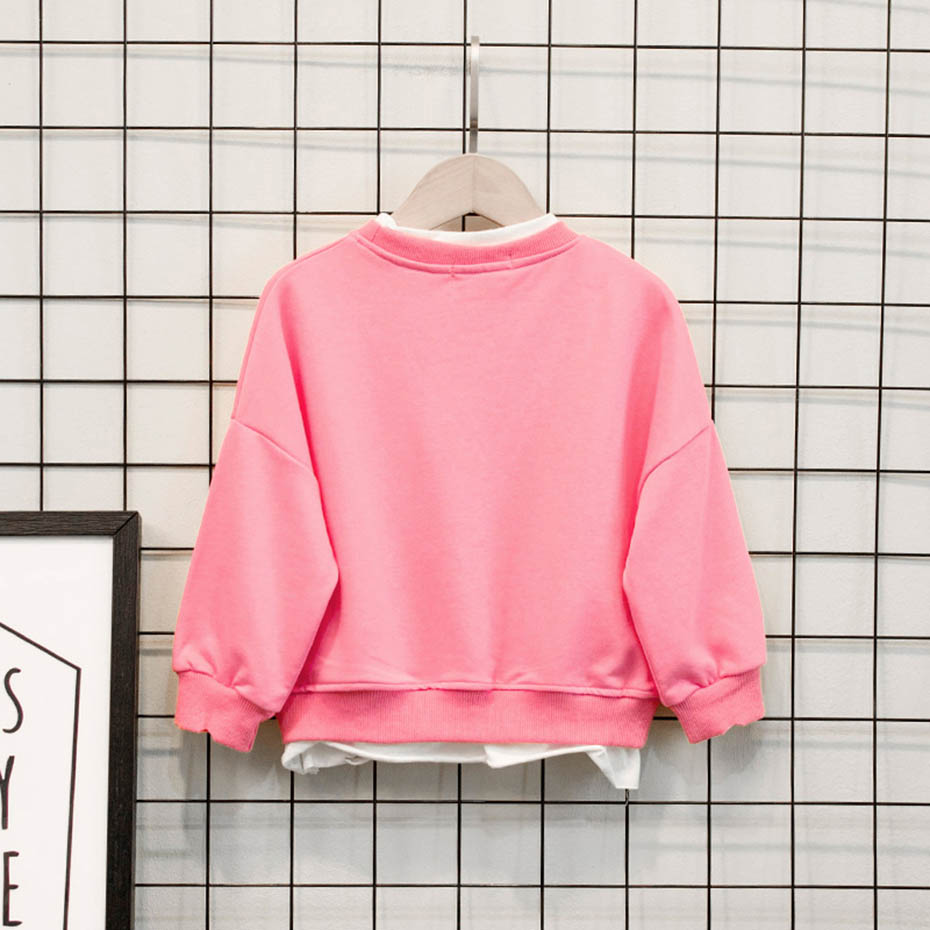 Cute Baby Sweater Solid Color Sweatshirt Baby Girls Kids Casual Style T-Shirt Clothes Blouse Sweatshirt Cardigan 3