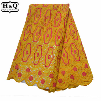 Lovely Yellow African Cotton Lace With 100% Cotton Nigerian Embroidered Dry Lace Fabric Swiss Voile Lace In Switzerland 2019