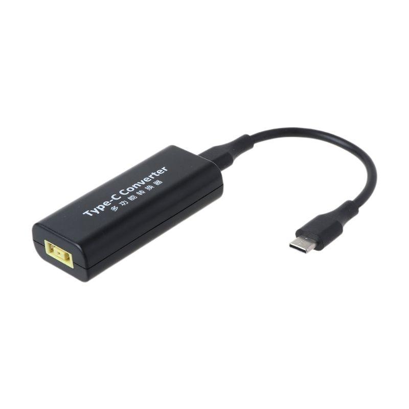 DC usb type C Мужской мощность зарядное устройство конвертер адаптер разъем для lenovo Dell Hp Asus ноутбук адаптер 20 в 3.25A квадратный разъем Женский