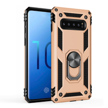 Kickstand Heavy Duty Protection Adsorption Armor  TPU+PC Case For Samsung galaxy Note10 Anti knock Shockproof