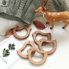 دعونا جعل 10 قطعة خشبية الطفل عضاضة الدردار زيت زيتون الطفل عضاضة الحيوانات شكل الخشب التسنين العناية بالفم