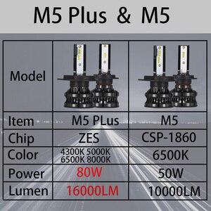 Image 2 - YHKOMS H4 Led 4300K ZES H1 H7 LED 5000K 8000K H8 H9 H11 9005 HB3 9006 HB4 H3 80W 16000LM سيارة المصباح السيارات الضباب ضوء 12V 6500K
