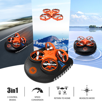 3-in-1 EPP Flying Air Boat Land Driving Mode Detachable One Key Return RC Drone Quadcopter RTF